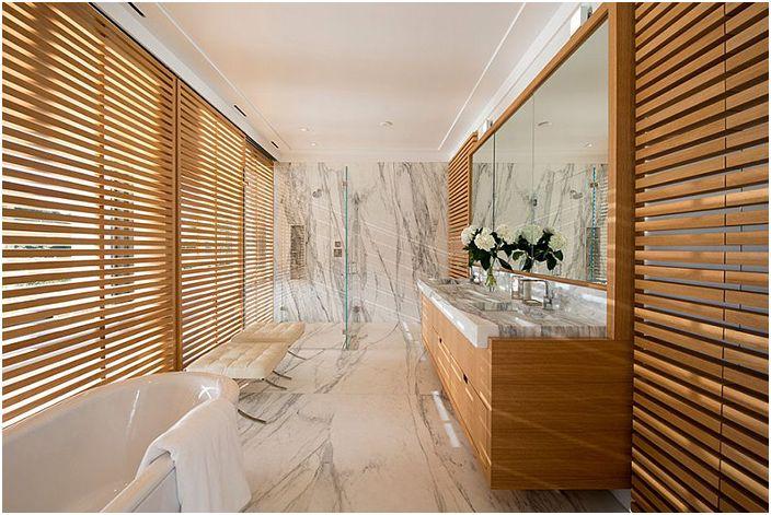 30 зашеметяващи бани с каменни стени, за да задоволят всеки вкус