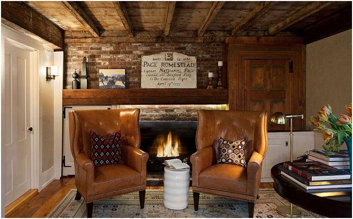 30 луксозни декорация идеи домашен офис с камина