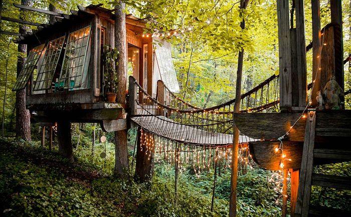 7 най-романтичните къщи на дървото, което може да се поръча чрез онлайн услугата