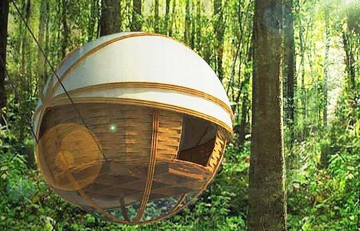 Алтернативни експедиционни палатки: Окачени сферичен корпус за защита на туристите от хищници