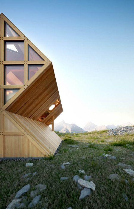 """""""Склонове Асиметрия"""": концепцията на една къща от украинския архитект"""