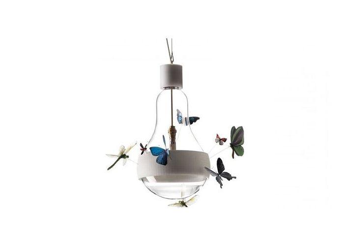 Пеперудите на една крушка: страхотна ръчно изработени стилни лампи