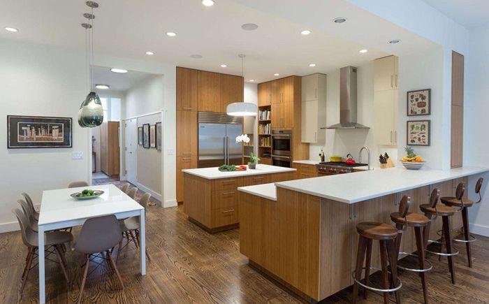 Бруклин градска къща с отворен план етаж