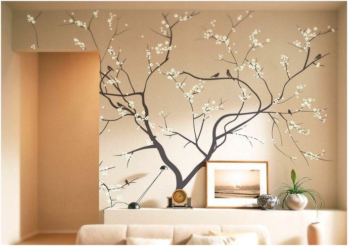 Дърво на стена: 19 интересни идеи за интериорен дизайн