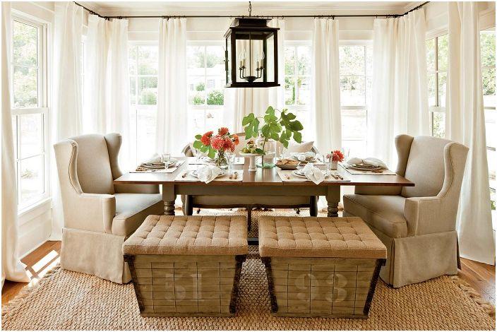 Чудните завеси: 20 практически идеи за декориране стаи интериорни