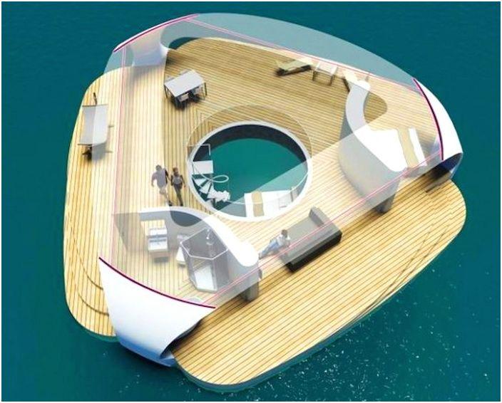 За почитателите на нестандартна почивка с комфорт: концепцията за плаващи къщи