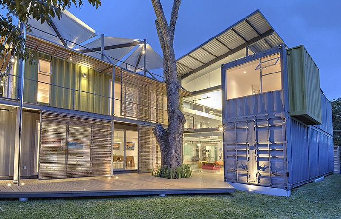 House Made Of Containers house made of containers: a great inexpensive but creative housing