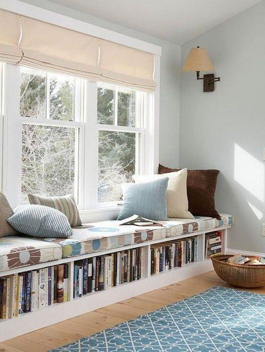 Къде мога да намеря място за книги в малък апартамент: 17 интересни идеи за организиране на пространството