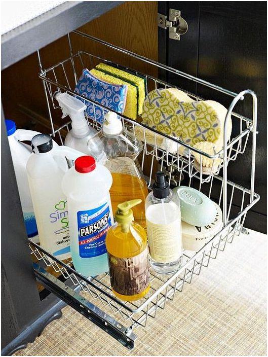 Перфектният реда, в малка баня: 5 идеи за съхранение под мивката