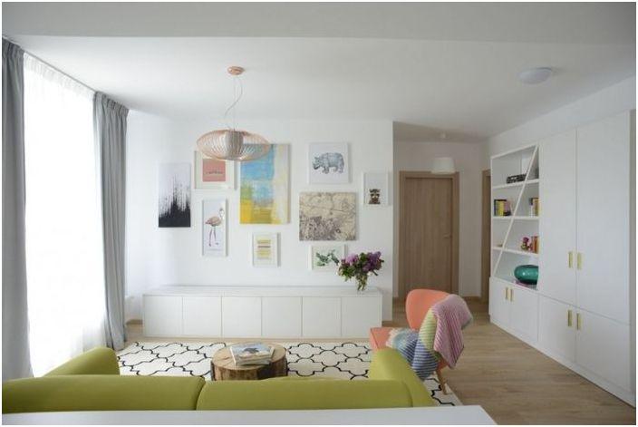 В интериора, които никога няма да скучаете: Светло жилище в Букурещ