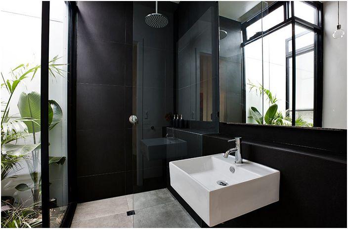 Как да се постигне хармония: 11 зашеметяващо красиви бани в черно
