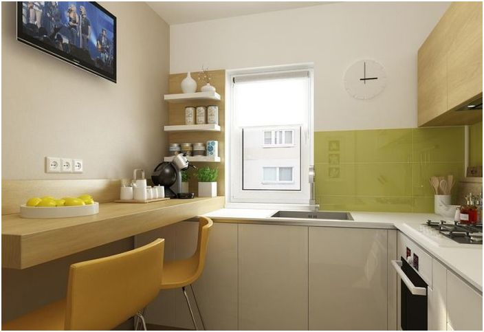 Kuinka tehdä pieni keittiö 6 neliömetriä Bukarestissa  dizainall com