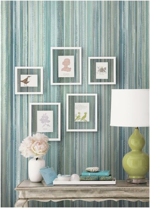 Wallpaper with a neutral pattern, which is the minimum flow rate