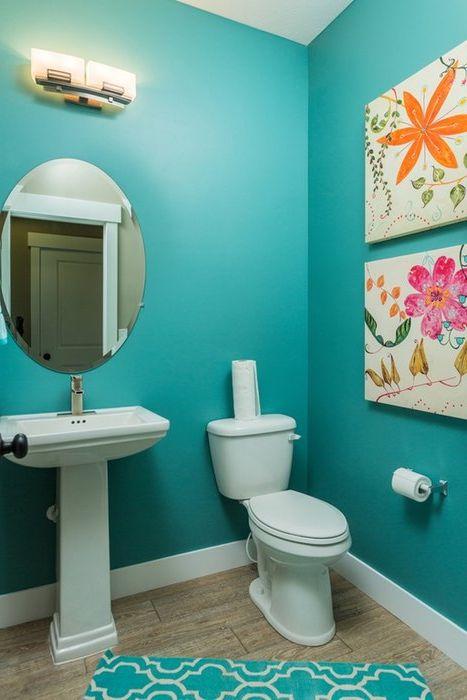 Какъв цвят да изберем за малки бани: 32 смел пример