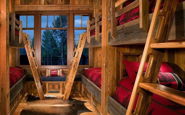 ... og komfort: store barnas soverom i en rustikk stil  dizainall.com