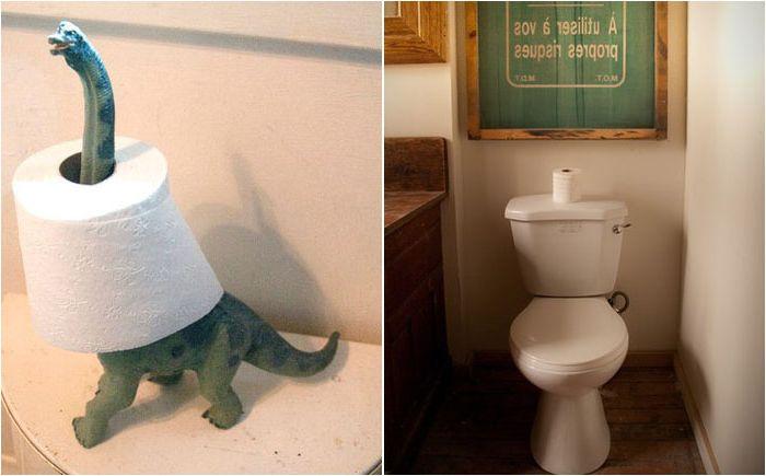 Къде да се скрие тоалетна хартия: 15 интелигентни съвети