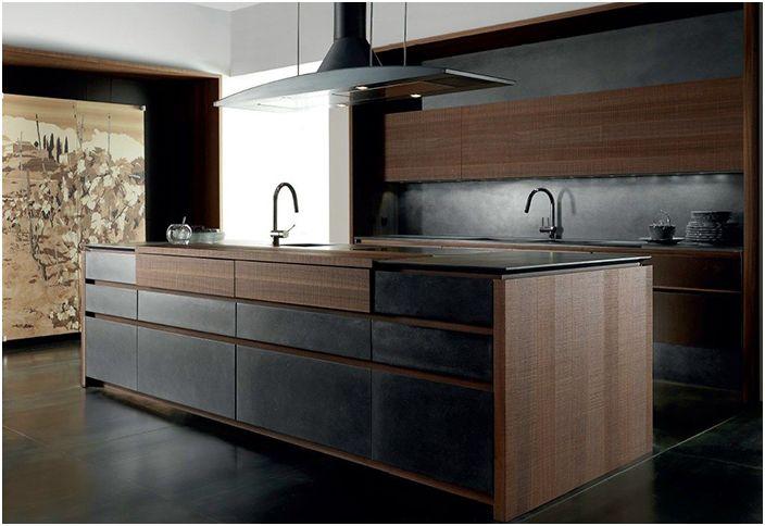 Köket i framtiden: stor köksö med skjutbara toppar | dizainall.com