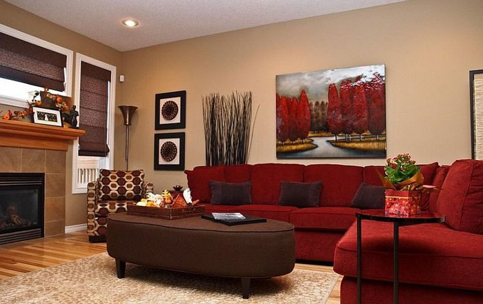 Red sofa - composite living center