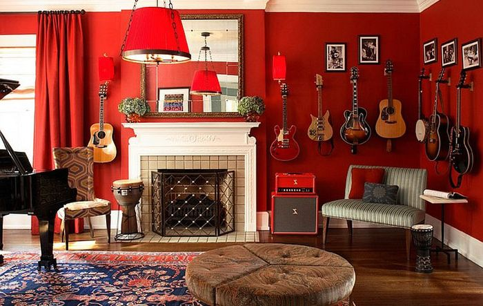 Music Room by Dillard Pierce Design Associates