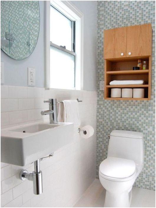 Малка баня: 17 готини идеи за много тясно пространство