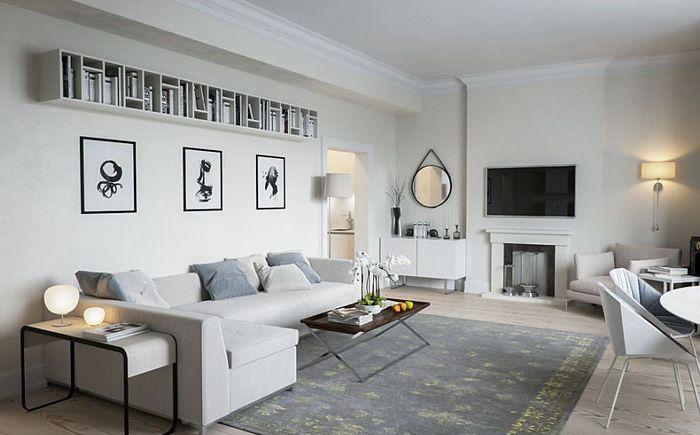 Стилът на минимализма и луксозен скандинавски: 35 зашеметяващи идеи за хол