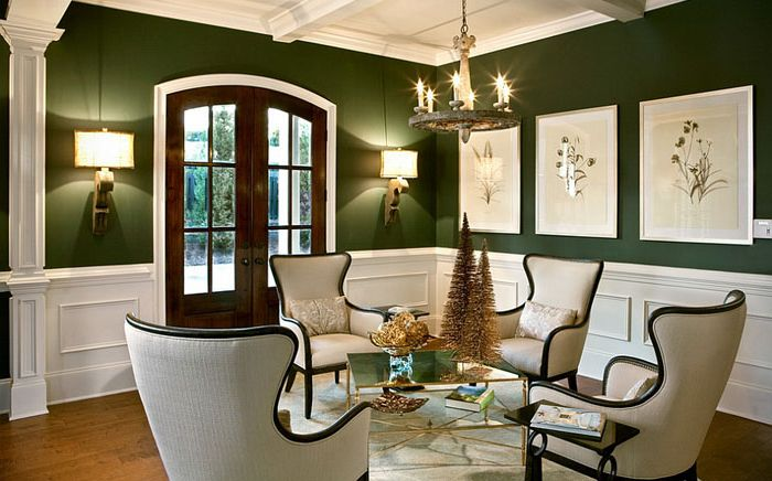 Charm green: 15 stunning living rooms