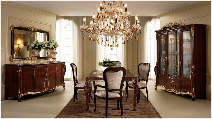 Lovely room which is very expensive look with unusual chandelier.