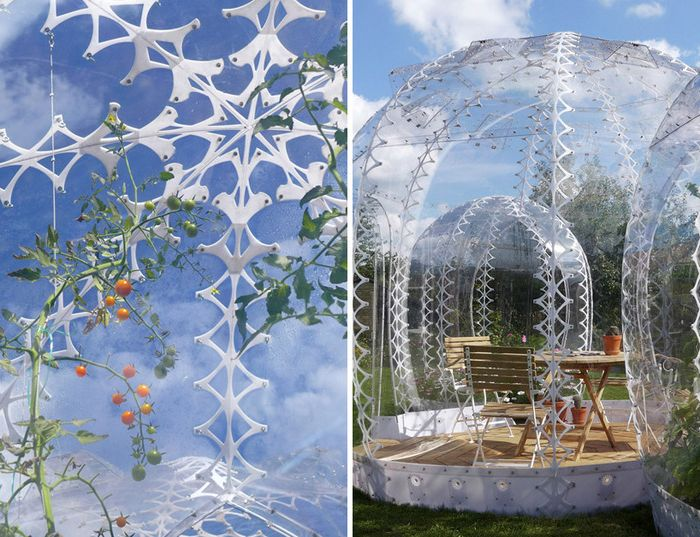 """Invisible Garden House"" мини-парник в суровата скандинавската страна"