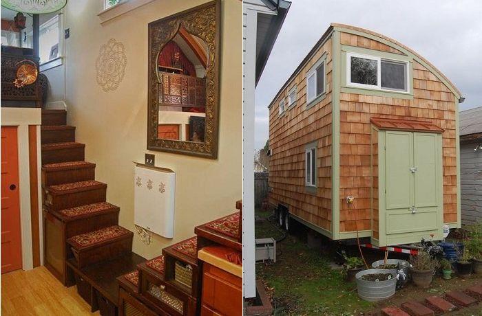 Чувствайте се като приказка: къща в ориенталски площ стил на само 24 квадратни метра. метър