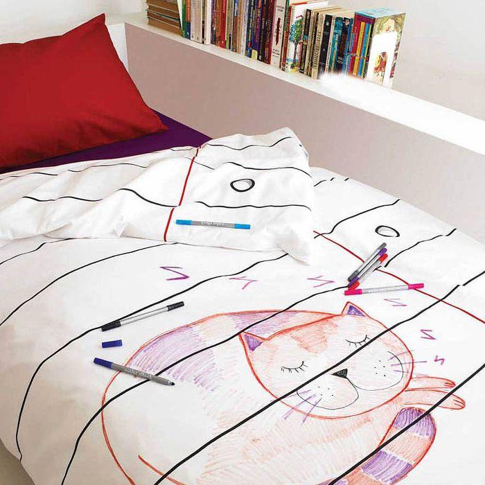 Спално бельо, което може и трябва да се боя маркери