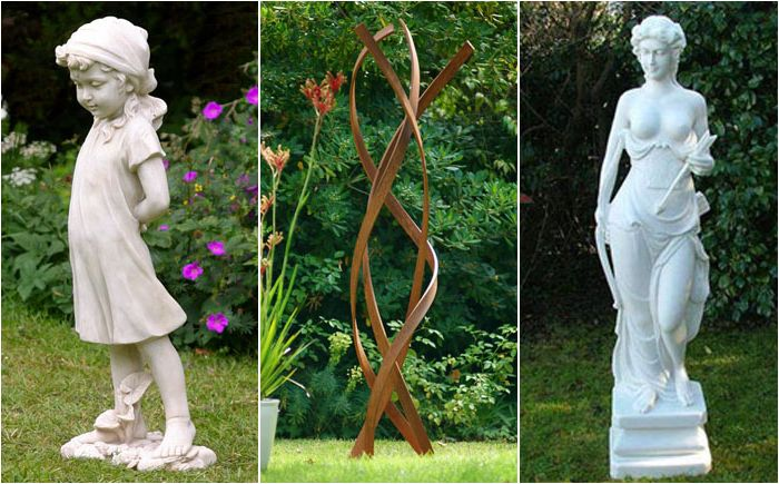 Garden sculpture: how to find a place for the statue in the garden