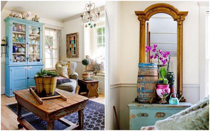 Собствен Designer: Селска къща в ретро стил, пълни със стари и редки неща