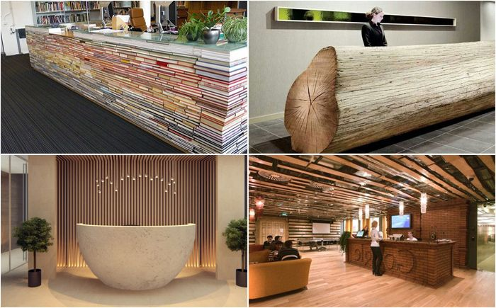The most original and unique reception desks