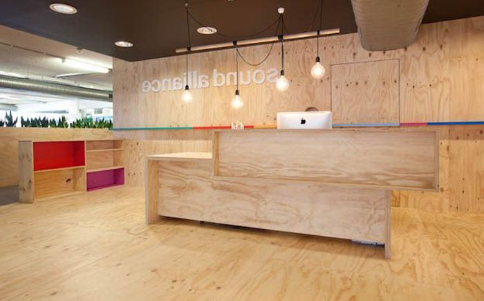 Reception desk in Sound Alliance