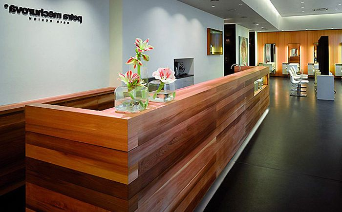Reception desk at the hairdresser