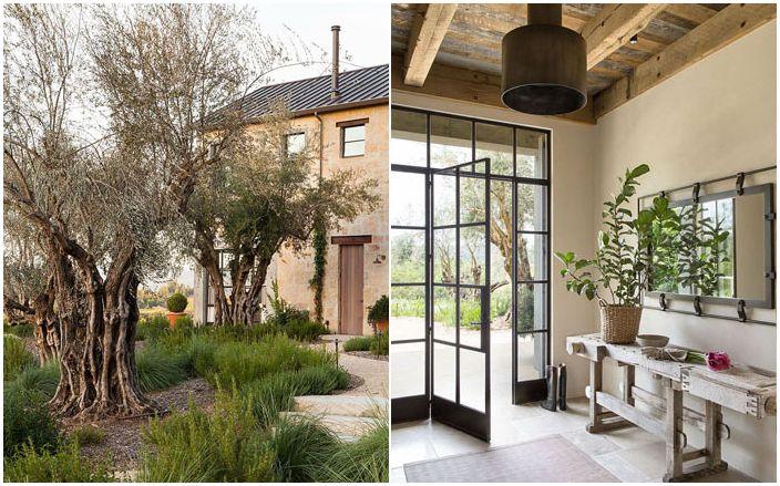 Бягство от света и суетата: селска къща в Калифорния, стъкло и камък
