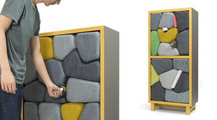 Изградена е от камък: уникални мебели за тези, които не обичат да постави нещата внимателно