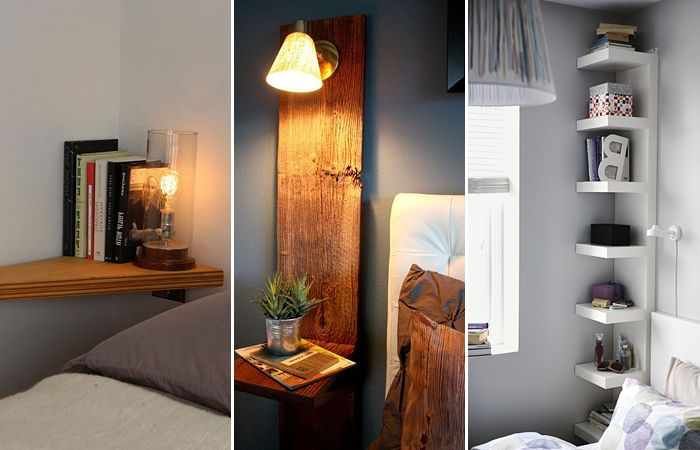 ... miniature bedside tables and shelves that are ideal for small bedrooms