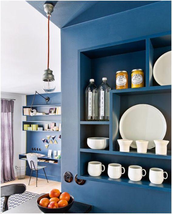 Bold приеми за малък апартамент: 30 квадратни метра в Париж