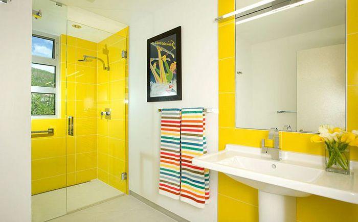 Solar лукс жълт: нов поглед към вътрешността на бани