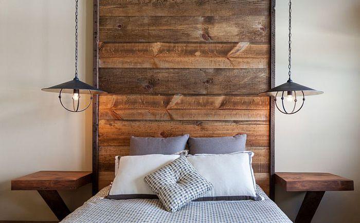stilig og moderne soverom 25 fantastiske ideer for tre hodegjerder. Black Bedroom Furniture Sets. Home Design Ideas