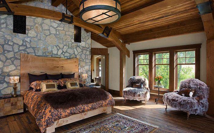 Luksuriøse soverom i rustikk stil med Mitchell Brock