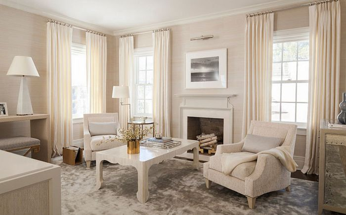 Elegant living room by S. B. Long Interiors