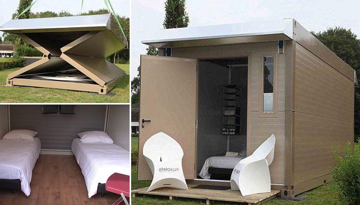 Удобни подвижни къщи, които могат да бъдат сглобени и разглобени в минути