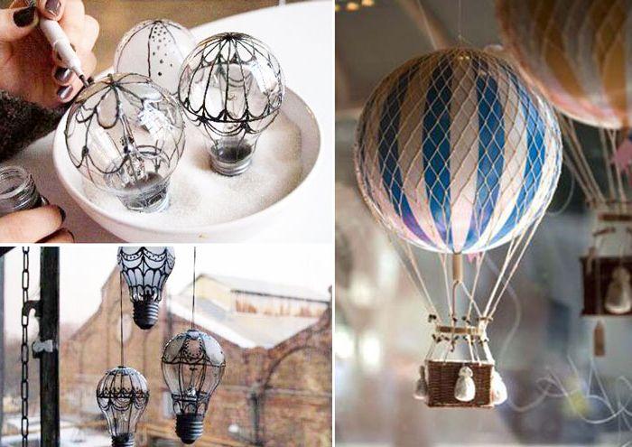 Балони в интериора на 10 приказни домашно аксесоари