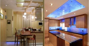 26 striking examples of spectacular and original lighting modern kitchens