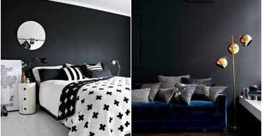 28 shades of gray: the most elegant interiors, built on the contrast of black walls