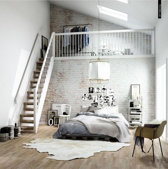 Skandinavski stil u spavaćoj sobi  dizainall.com
