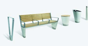 The durability in combination with elegance: concrete furniture for city streets