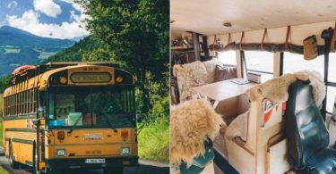 House for Travelling with accommodation, converted from old bus